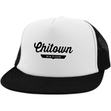 White/Black / One Size Chitown Trucker Hat with Snapback - The Nation Clothing