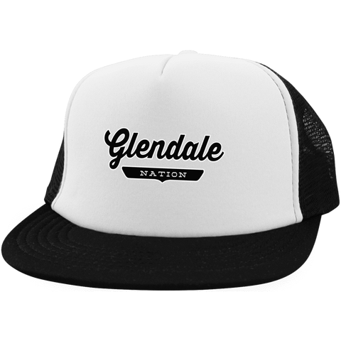 White/Black / One Size Glendale Nation Trucker Hat with Snapback - The Nation Clothing