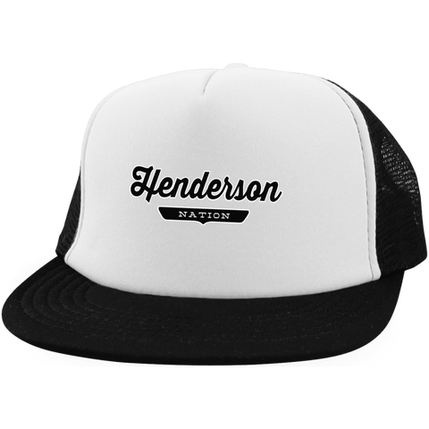White/Black / One Size Henderson Nation Trucker Hat with Snapback - The Nation Clothing