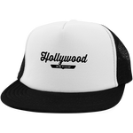 White/Black / One Size Hollywood Nation Trucker Hat with Snapback - The Nation Clothing