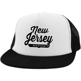 White/Black / One Size New Jersey Nation Trucker Hat with Snapback - The Nation Clothing