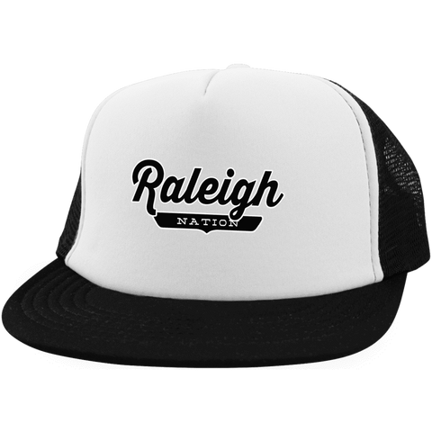 White/Black / One Size Raleigh Nation Trucker Hat with Snapback - The Nation Clothing