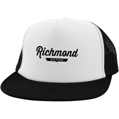 White/Black / One Size Richmond Nation Trucker Hat with Snapback - The Nation Clothing