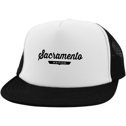 White/Black / One Size Sacramento Nation Trucker Hat with Snapback - The Nation Clothing