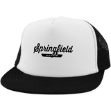 White/Black / One Size Springfield Nation Trucker Hat with Snapback - The Nation Clothing