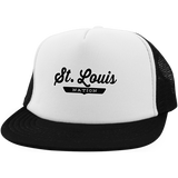 White/Black / One Size St. Louis Nation Trucker Hat with Snapback - The Nation Clothing