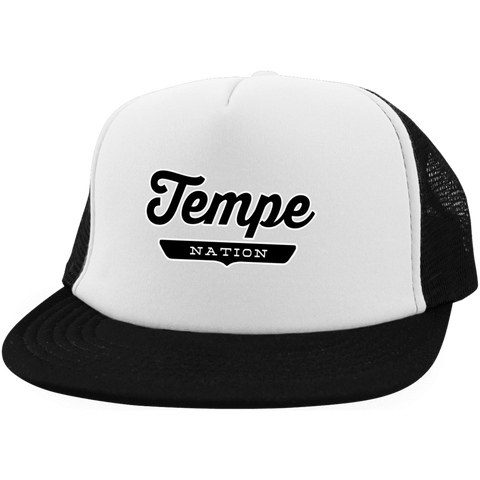 White/Black / One Size Tempe Nation Trucker Hat with Snapback - The Nation Clothing