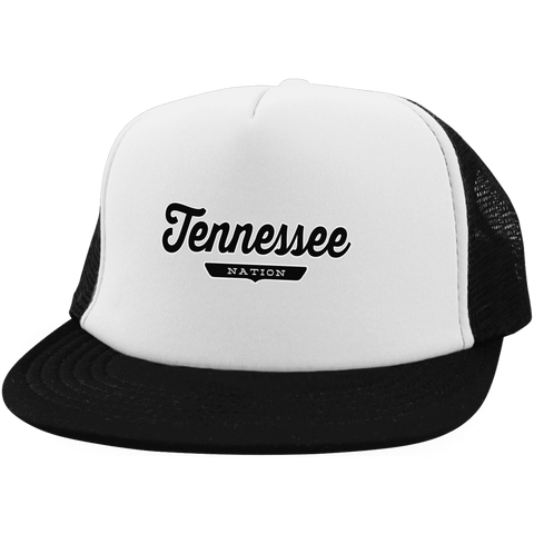White/Black / One Size Tennessee Nation Trucker Hat with Snapback - The Nation Clothing