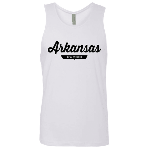White / S Arkansas Nation Tank Top - The Nation Clothing