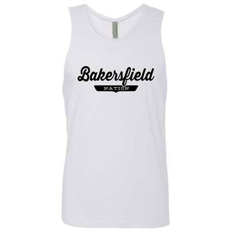 White / S Bakersfield Nation Tank Top - The Nation Clothing
