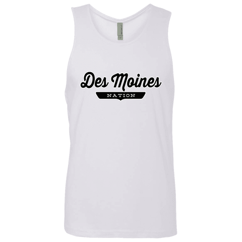 White / S Des Moines Nation Tank Top - The Nation Clothing
