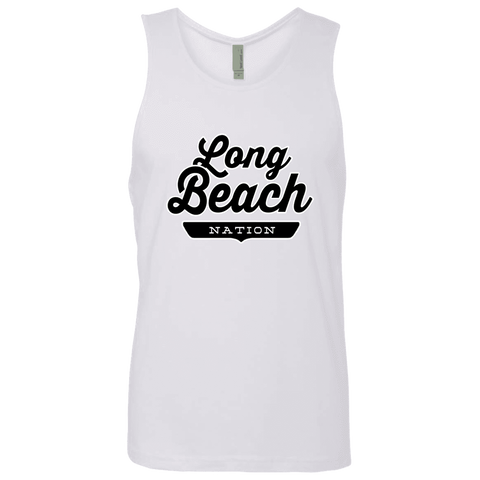 White / S Long Beach Nation Tank Top - The Nation Clothing