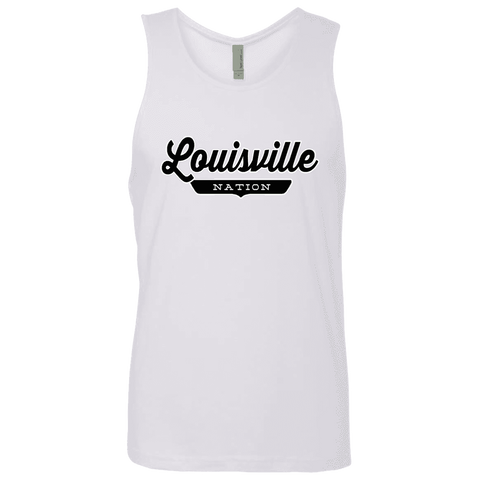 White / S Louisville Nation Tank Top - The Nation Clothing