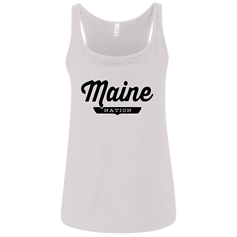 White / S Maine Nation Women's Tank Top - The Nation Clothing