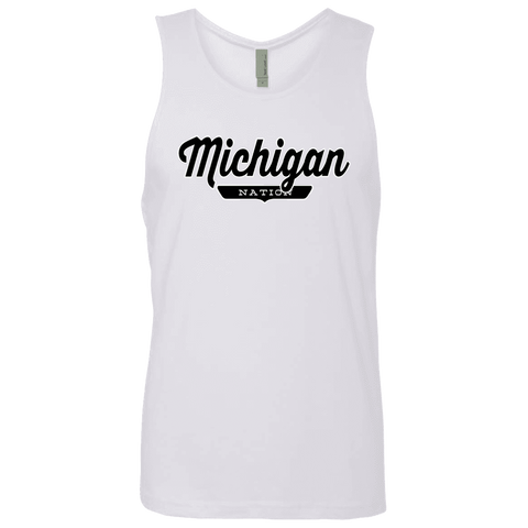 White / S Michigan Nation Tank Top - The Nation Clothing