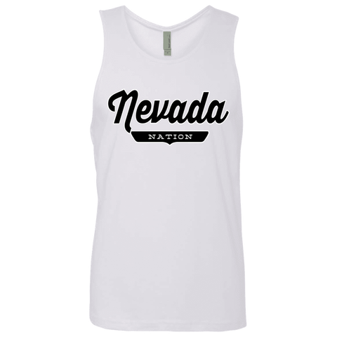 White / S Nevada Nation Tank Top - The Nation Clothing