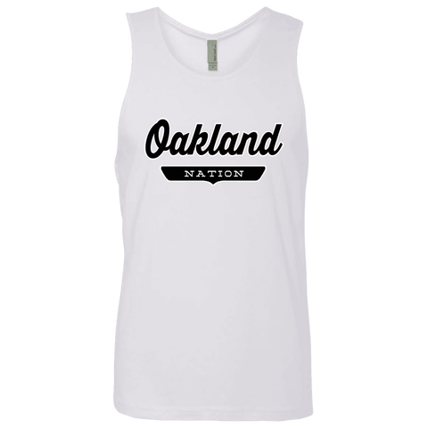 White / S Oakland Nation Tank Top - The Nation Clothing