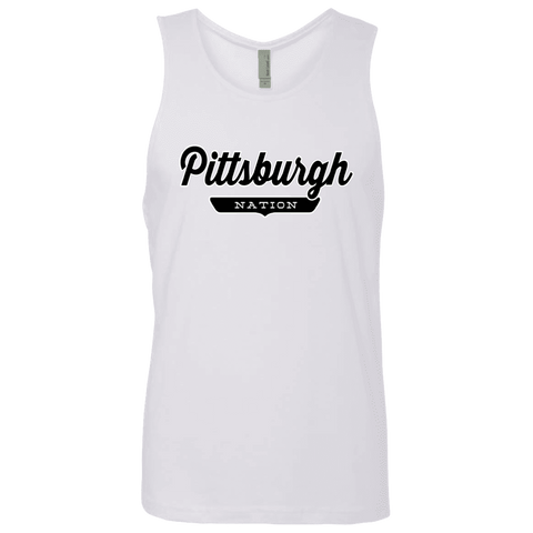 White / S Pittsburgh Nation Tank Top - The Nation Clothing