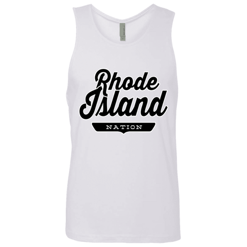 White / S Rhode Island Nation Tank Top - The Nation Clothing