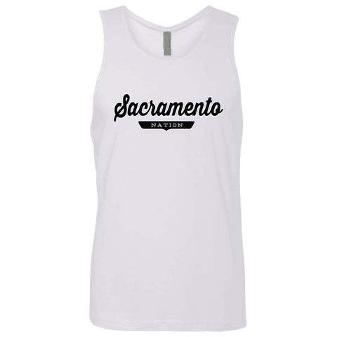 White / S Sacramento Nation Tank Top - The Nation Clothing