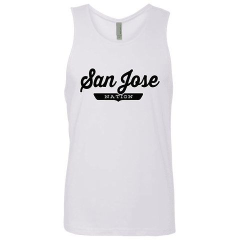 White / S San Jose Nation Tank Top - The Nation Clothing