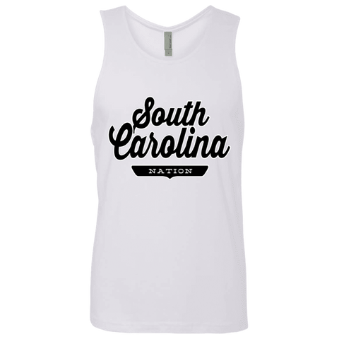 White / S South Carolina Nation Tank Top - The Nation Clothing