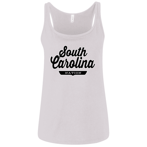 White / S South Carolina Women's Tank Top - The Nation Clothing