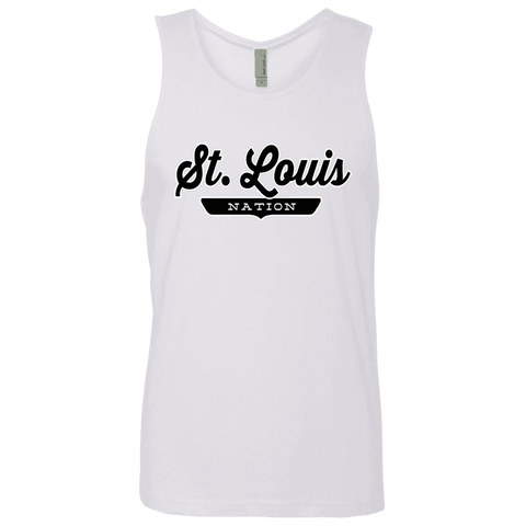 White / S St. Louis Nation Tank Top - The Nation Clothing