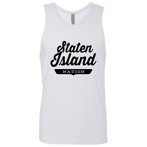 White / S Staten Island Nation Tank Top - The Nation Clothing