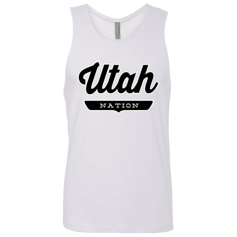 White / S Utah Tank Top - The Nation Clothing