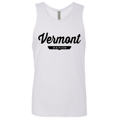 White / S Vermont Nation Tank Top - The Nation Clothing