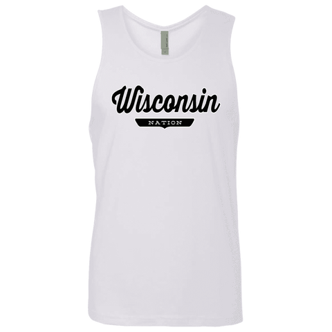 White / S Wisconsin Nation Tank Top - The Nation Clothing