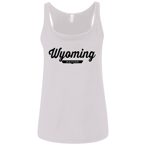 White / S Wyoming Nation Women's Tank Top - The Nation Clothing
