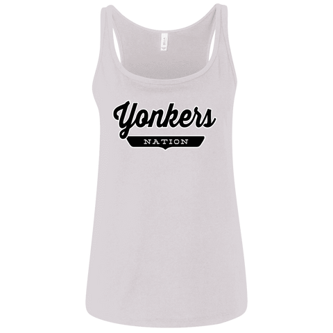 White / S Yonkers Nation Women's Tank Top - The Nation Clothing