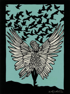 Greeting Card #52 If I Had Wings by Elizabeth VanDuine