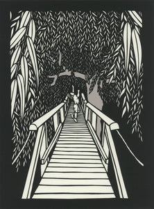Something About Willow--paper cut artwork by Elizabeth VanDuine
