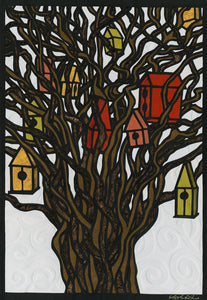 Greeting Card #8 Tree Houses by Elizabeth VanDuine