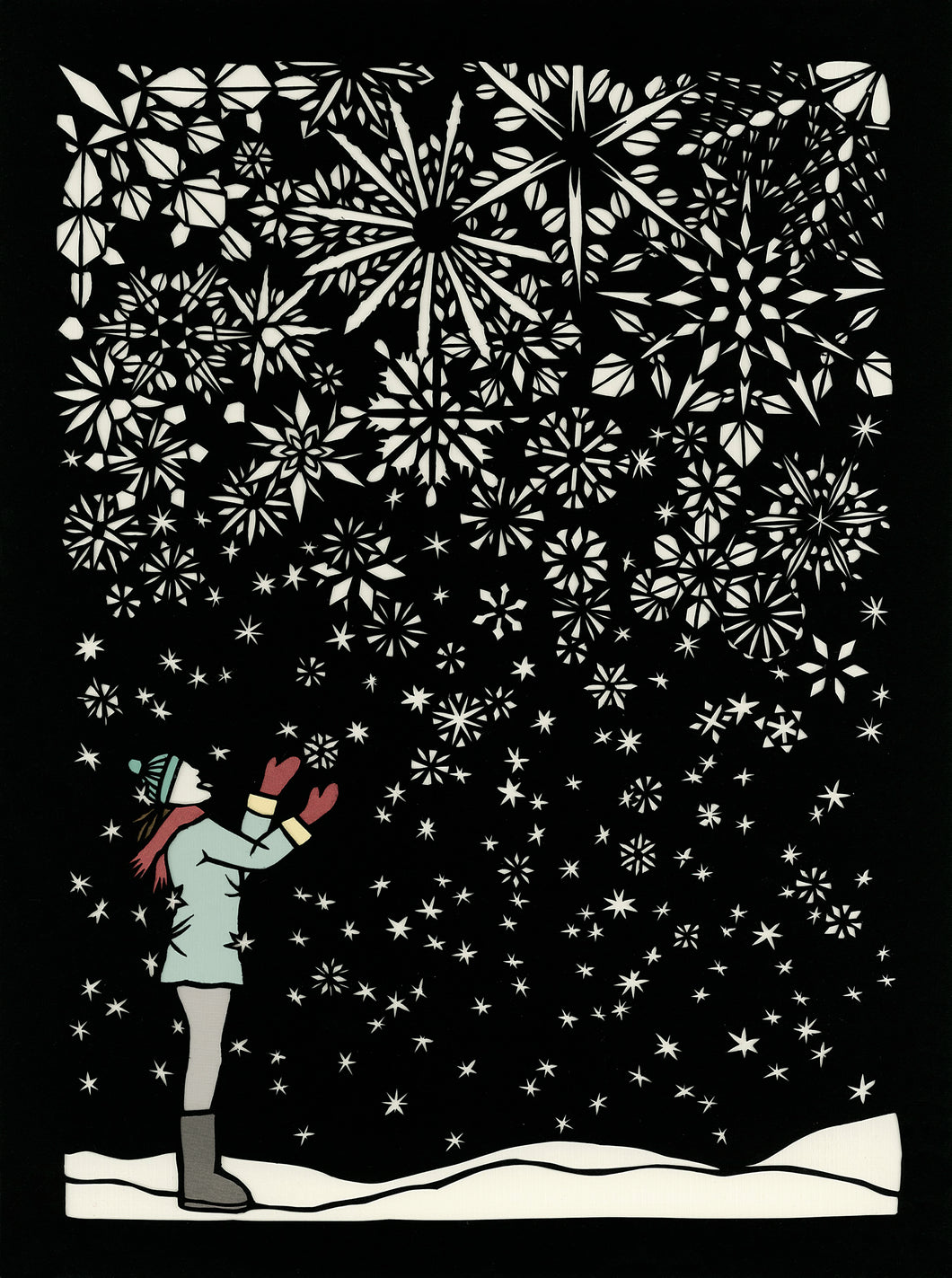Greeting Card #38 First Flakes
