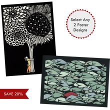 Load image into Gallery viewer, Select any 2 poster designs by Elizabeth VanDuine and Save 20%