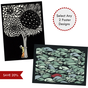 Select any 2 poster designs by Elizabeth VanDuine and Save 20%