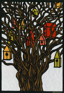 Greeting Card #8 Tree Houses