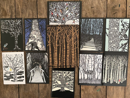 Trees 10 Card Gift Box Set