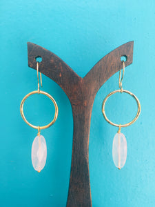 Jacqui Earrings Rose Quartz