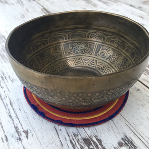 Singing Bowl with Engraving