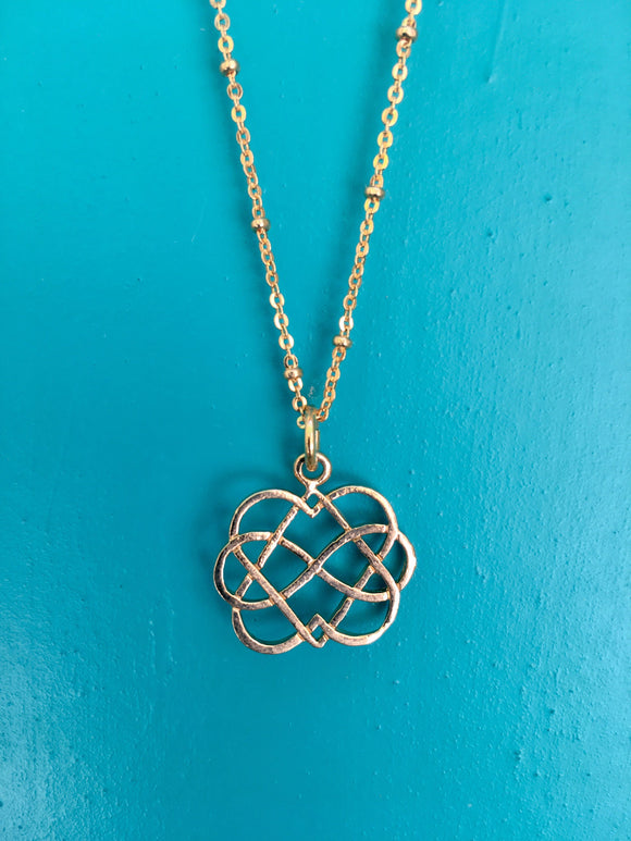 Necklace with Double Infinity Pendant