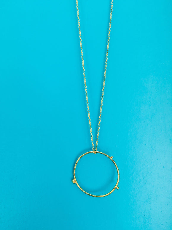 Dot Hoop Pendant Necklace