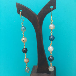Bella Earrings Teal & Agate