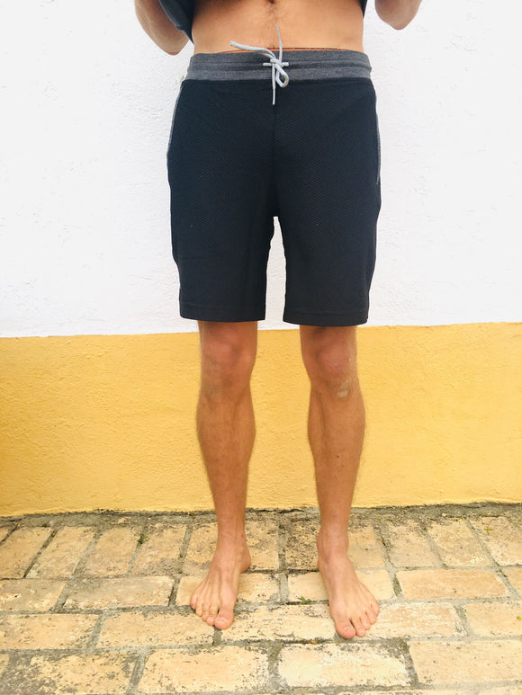 Mens Black Mesh Short
