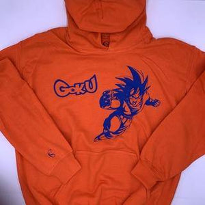 Orange cotton hoodie