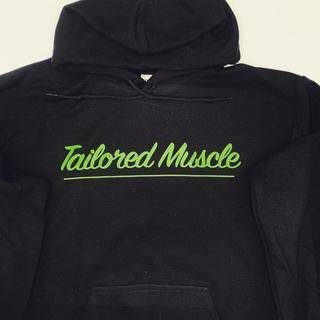 Image of Black cotton hoodie